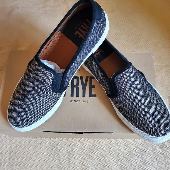 Frye Shoes | Gia Canvas Slip On | Poshmark